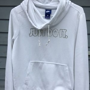 Woman's Nike white hoodie - size S